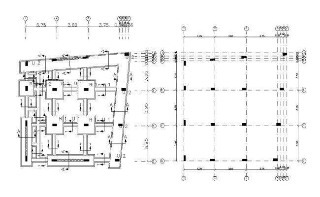 Free Download Foundation Plan Column Footing Design