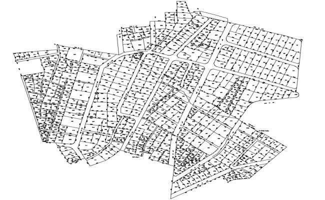 Free Download Urban Town Planning DWG File