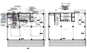 Ground floor plan and layout of office building is given in 2D Autocad DWG drawing file.  Download the DWG Autocad file.