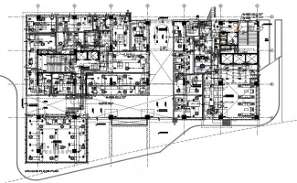 Ground floor plan of the inspire business park office building given in the Autocad DWG drawing file.   Download the DWG file.