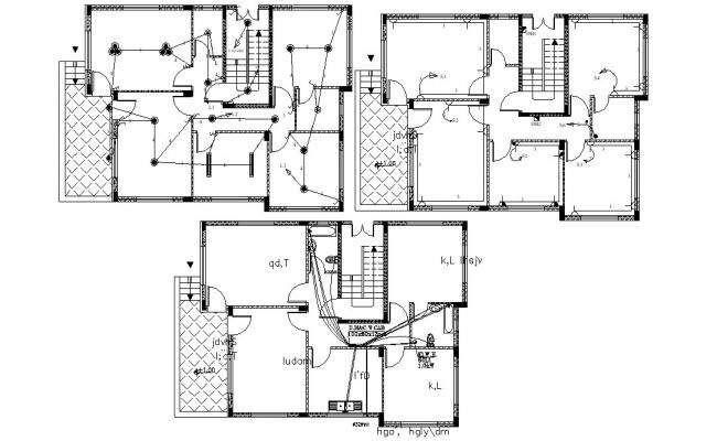 Home Wiring Layout CAD Floor Plan