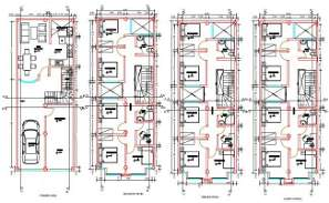 Hostel Plan With Furniture Layout CAD Drawing DWG File