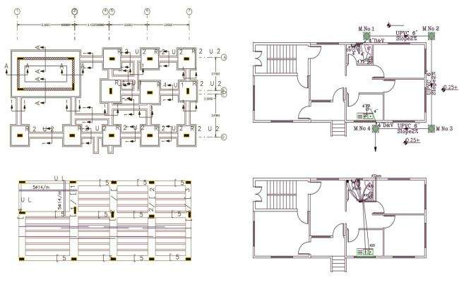 House Construction With Plumbing Plan Design DWG File