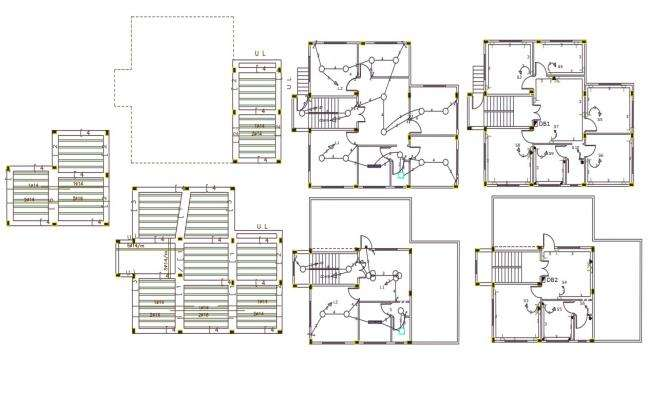 House Electrical Wiring And Construction Plan DWG File