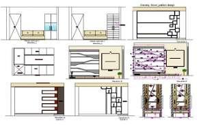 House Furniture Interior Elevation Design DWG File