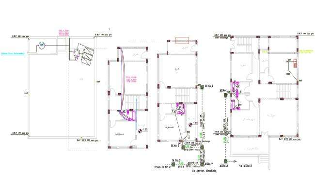 House Plumbing Layout Plan Design AutoCAD File