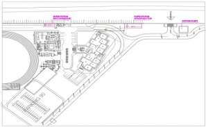 Layout of SOG school of power station with foundation, Water station and existing sumpit were given in 2D DWG drawing file Download the DWG Autocad file.