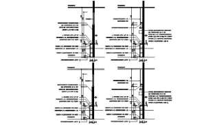 Lintel section details are given in this AutoCAD DWG drawing. Download the AutoCAD 2D DWG file.