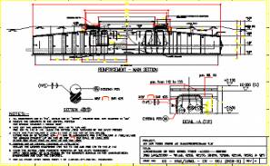 Main section of the reinforcement details is given in this AutoCAD DWG Drawing File. Download the 2D CAD DWG file now.