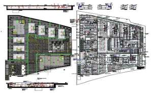 Nine floor of Mechanical , Electrical and Plumbing layout were given in this file. Download the DWG Autocad file.