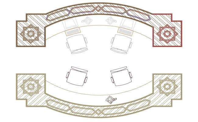 Office Workdesk Design AutoCAD drawing