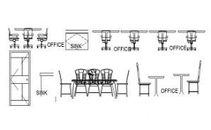 Office chair block detail presented in this Autocad drawing file.  Download this 2d Autocad drawing file.