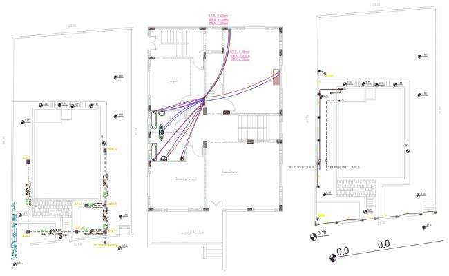 Plumbing Layout Plan Of House AutoCAD Drawing