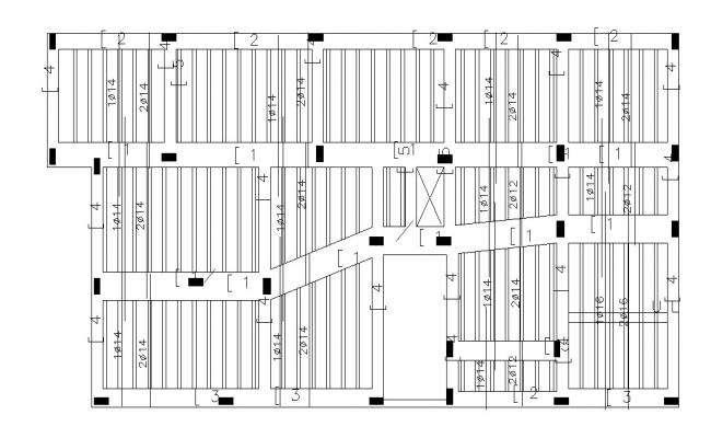RCC Free Slab bar structure Design DWG file