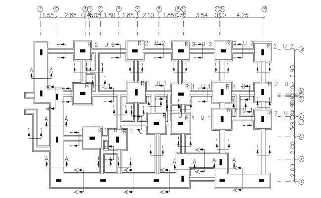 Residence Building Foundation Plan DWG File