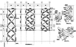 Roof Plan From Axis Load CAD Drawing Free DWG File