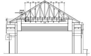 Roof Truss Connection section details 2D AutoCAD DWG drawing file is provided.Download the AutoCAD 2D DWG file.