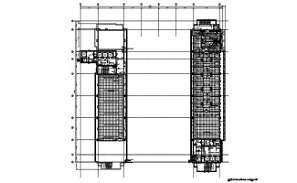Roof floor plan factory building and section details are given in this DWG CAD Drawing.Download the AutoCAD file now.