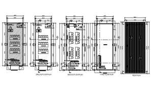 School classroom detail drawing presented in this Autocad file. Download this 2d Autocad drawing file.