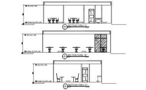 Section detail of the office design presented in this Autocad file.  Download this 2d Autocad drawing file.