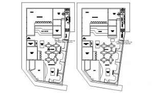 Site layout plan drawing provided in this Autocad file.  Download this 2d Autocad drawing file.