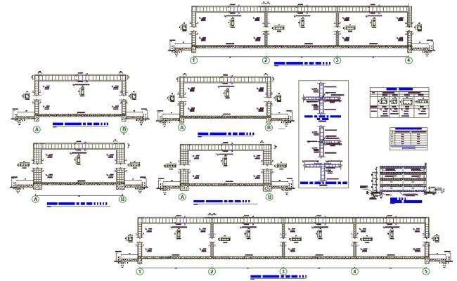 Steel Structure Span Design AutoCAD File