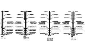 Steel rod Cut section details are given in this AutoCAD DWG drawing. Download the AutoCAD 2D DWG file.