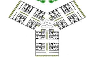 Studio Apartment Floor Plan CAD Drawing DWG File