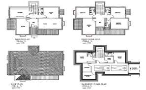 The AutoCad 2D drawing file having the Individual villa floor plan with Basement two car park facilities( Villa  Floor Plan).  Download the AutoCAD 2D DWG file.