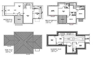 The AutoCad 2D drawing file having the Individual villa layout plan with Basement two car park facilities( Villa layout Plan).Download the AutoCAD 2D DWG file.