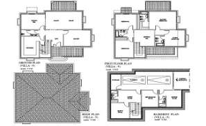 The AutoCad 2D drawing file having the villa floor plan with Basement two car park facilities( Villa Plan).Download the AutoCAD 2D DWG file.