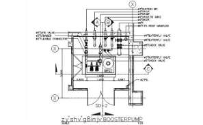 The Booster pump typical section details are given in this DWG CAD Drawing. Download the AutoCAD file now.