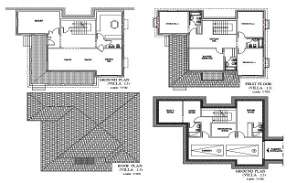 The DWG AutoCad 2D drawing file having the Individual villa floor plan with Basement car park facilities(Villa House Floor Plan). Download the AutoCAD 2D DWG file.