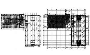 The Typical section plan of the office building is given in this AutoCAD DWG drawing. Download the AutoCAD 2D DWG file.