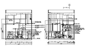 The pipe connection and valve typical section details are given in this DWG CAD Drawing. Download the AutoCAD file now.
