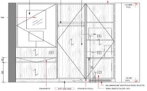 This detailed drawing about the full height wardrobe design specified in this cad file. Download this 2d Autocad drawing file.