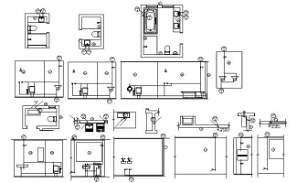 Toilet detail of commercial presented in this AutoCAD DWG Drawing File. Download the Auto Cad 2D DWG file now.