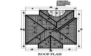 Truss Span Roof Plan CAD Drawing Free Download DWG File