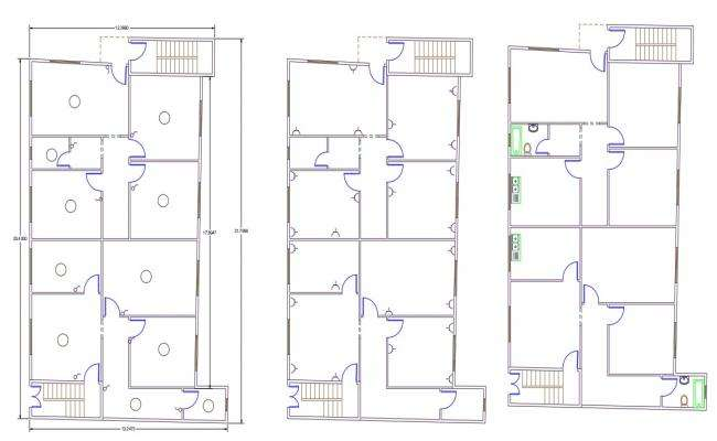 Twin House Electrical Layout Plan Design DWG File