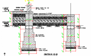 Two Columns and flooring section details are provided in this AutoCAD DWG Drawing File. Download the 2D CAD DWG file now.