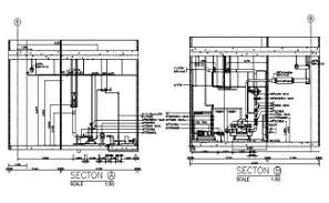Valve and pipe connection typical section details are given in this DWG CAD Drawing. Download the AutoCAD file now.