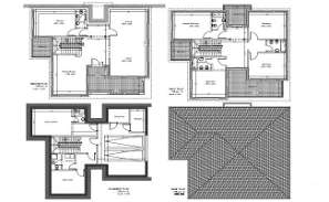Villa of basement plan, ground floor, first floor and roof plan has given in Autocad 2D drawing file.  Download DWG file.
