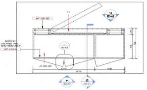 Wardrobe detail drawing presented in this cad drawing file. Download this 2d AutoCAD drawing file.