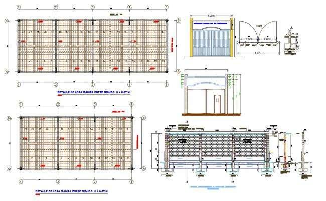 Warehouse Construction Plan Design DWG File