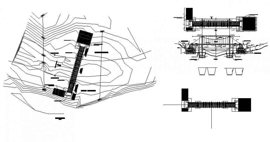 Vehicle bridge isometric elevation drawing details dwg ...