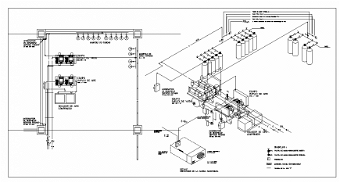 Fire System Pump Room Machinery installation cad drawing