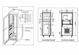 Electrical circuit box detail elevation 2d view autocad