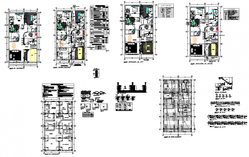 third floor electrical bungalow layout file