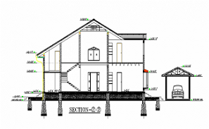section details of the G+1 house AutoCAD DWG drawing file is provided.Download the AutoCAD 2D DWG file.