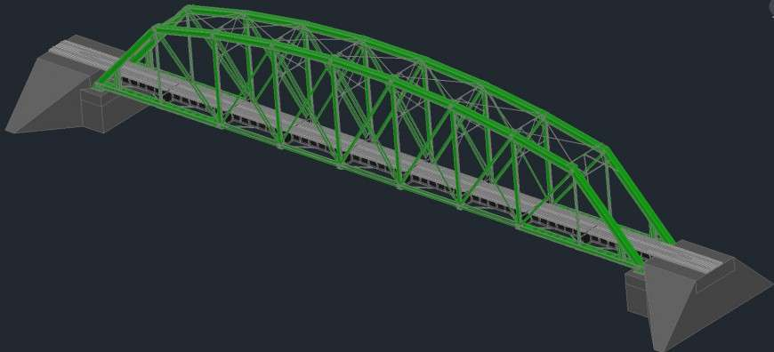 3 D Cad Drawings Details Of Train Bridge Tunnel Auto Cad Software Cadbull